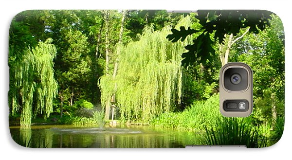 Galaxy Case featuring the photograph Weeping Willow Pond by Lyric Lucas