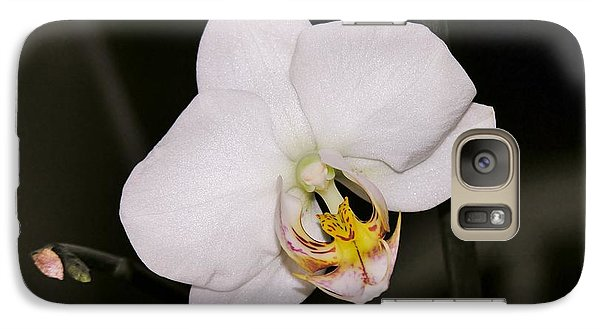 Galaxy Case featuring the photograph White Orchid by Sherman Perry