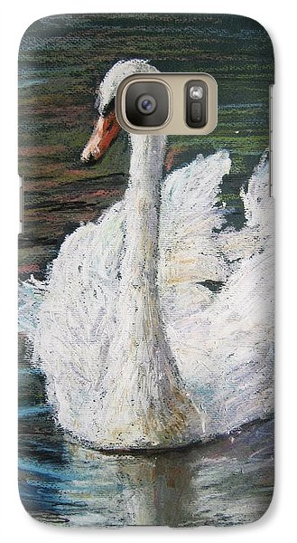 Galaxy Case featuring the painting White Swan by Jieming Wang