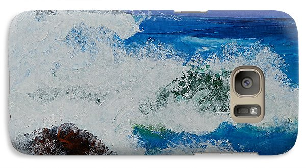 Galaxy Case featuring the painting Wild Sea by Judi Goodwin