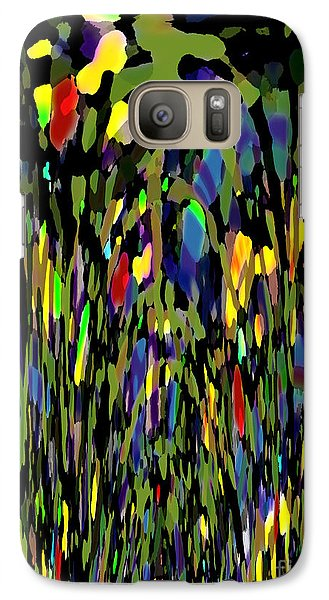 Galaxy Case featuring the digital art Wildflowers by Patricia Januszkiewicz