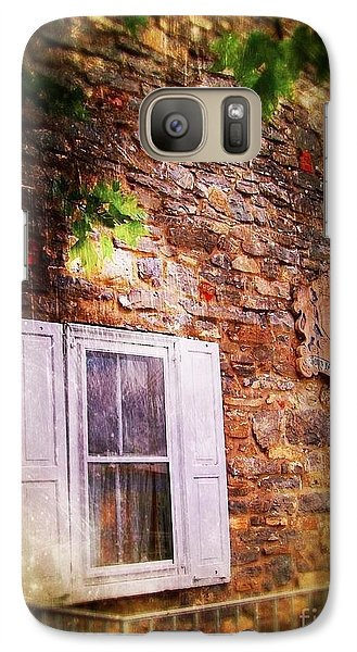 Galaxy Case featuring the photograph Window On The Rocks  by Becky Lupe