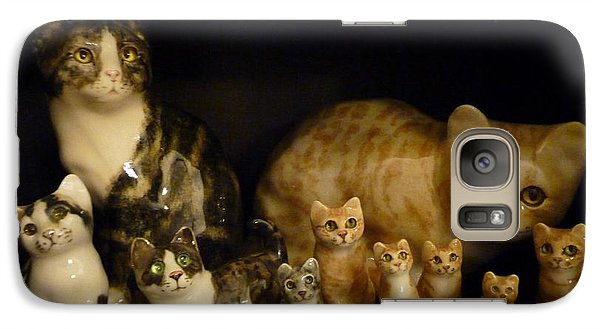 Galaxy Case featuring the photograph Winstanley Cats by Jeanette Oberholtzer