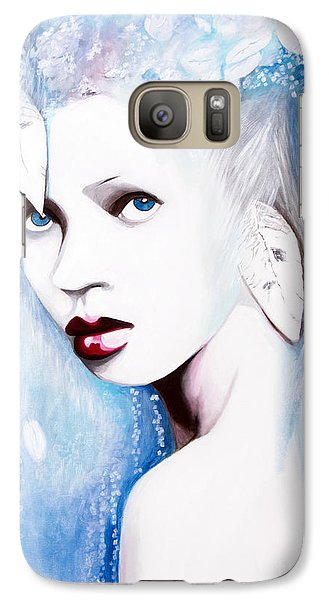 Galaxy Case featuring the painting Winter by Denise Deiloh