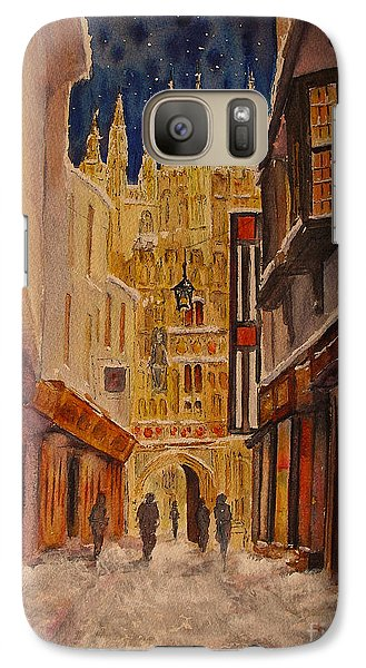 Galaxy Case featuring the painting Winter In Canterbury by Beatrice Cloake
