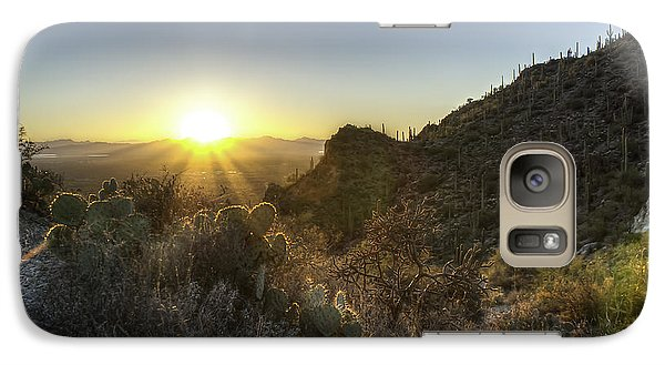 Galaxy Case featuring the photograph Winter Sunset by Lynn Geoffroy