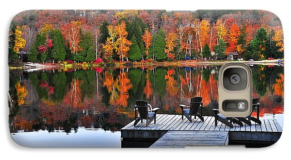 Wooden Dock On Autumn Lake Galaxy S7 Case