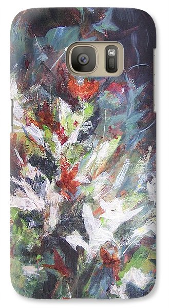Galaxy Case featuring the painting Woodland Bouquet by Mary Lynne Powers