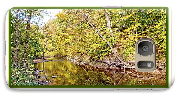 Galaxy Case featuring the photograph Woodland Stream Early Autumn Montgomery County Pennsylvania by A Gurmankin
