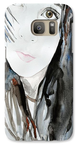 Galaxy Case featuring the painting Young Girl by Ismeta Gruenwald