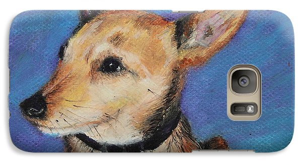 Galaxy Case featuring the painting Zack by Jeanne Fischer