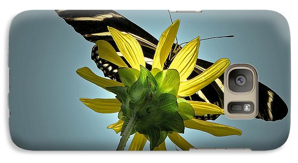 Galaxy Case featuring the photograph Zebra Longwing by Peg Urban