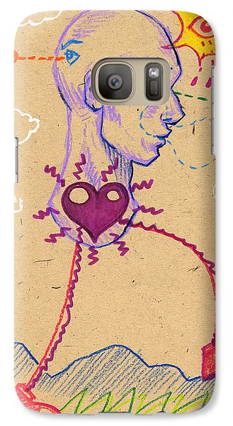 Galaxy Case featuring the drawing 20 20 Hindsight  by John Ashton Golden