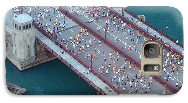 Galaxy Case featuring the photograph 2008 Chicago Marathon by Kay Gilley