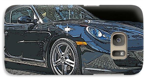 Galaxy Case featuring the photograph 2009 Porsche Cayman by Samuel Sheats