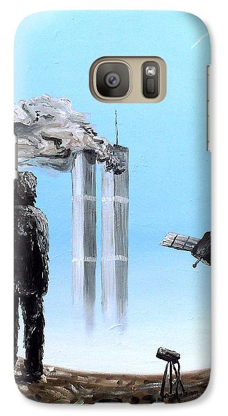 Galaxy Case featuring the painting 2012-confronting Inevitability by Ryan Demaree