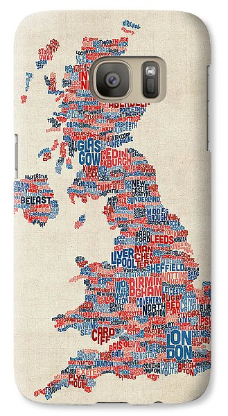 Great Britain Uk City Text Map Galaxy Case by Michael Tompsett