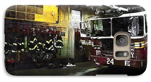 Galaxy Case featuring the photograph 24 Hook And Ladder Fdny by John Rivera