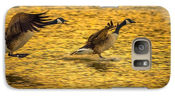 Galaxy Case featuring the photograph Canada Geese by Brian Stevens
