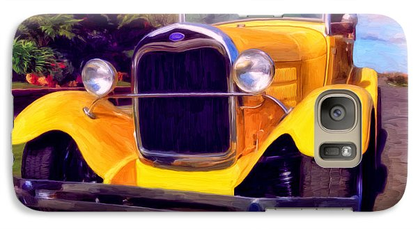 Galaxy Case featuring the painting '28 Ford Pick Up by Michael Pickett