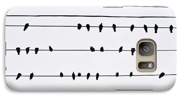 Galaxy Case featuring the photograph 29 Pigeons by Dean Harte