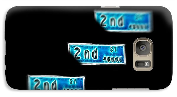 Galaxy Case featuring the photograph 2nd Street Long Beach by Mariola Bitner