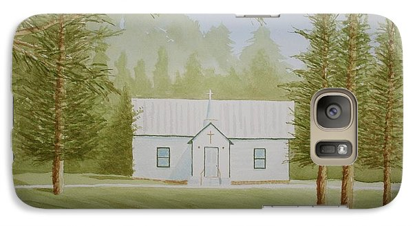 Galaxy Case featuring the painting A North Carolina Church by Stacy C Bottoms