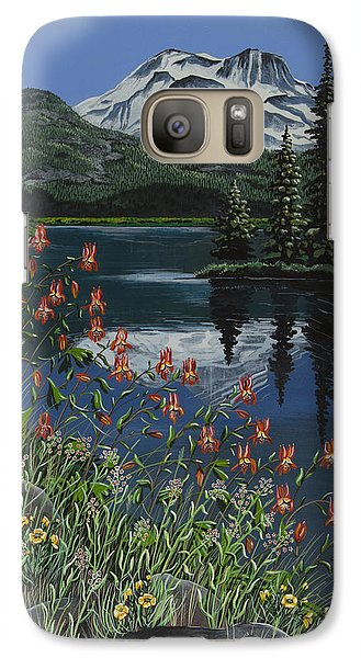 Galaxy Case featuring the painting A Peaceful Place by Jennifer Lake