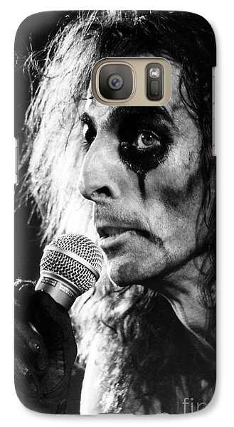 Galaxy Case featuring the photograph Alice Cooper 1979 by Chris Walter
