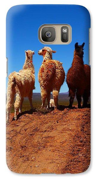 Llama Galaxy S7 Case - 3 Amigos by FireFlux Studios