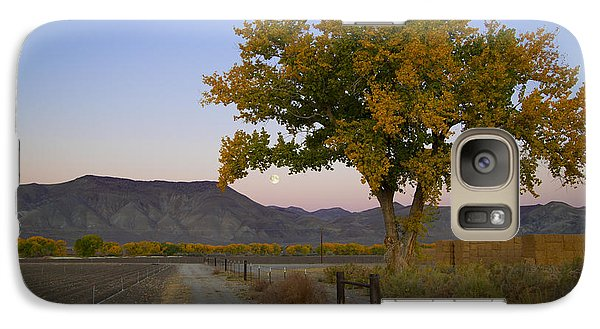 Galaxy Case featuring the photograph Autumn Moonset by Jim Snyder