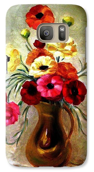 Galaxy Case featuring the painting Basking In The Light by Hazel Holland