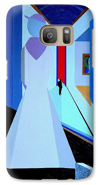 Galaxy Case featuring the painting blue d'Orsay by Bill OConnor