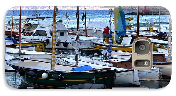 Galaxy Case featuring the photograph Boats In The Harbor by Mike Ste Marie