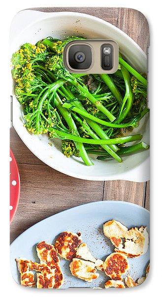 Broccoli Stems Galaxy S7 Case by Tom Gowanlock