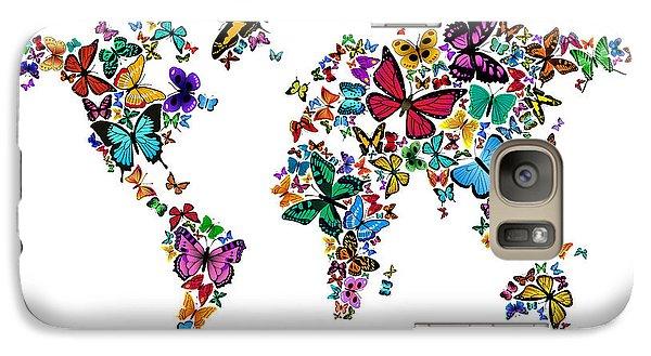 Butterflies Map Of The World Galaxy Case by Michael Tompsett