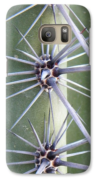 Galaxy Case featuring the photograph Cactus Thorns by Deb Halloran