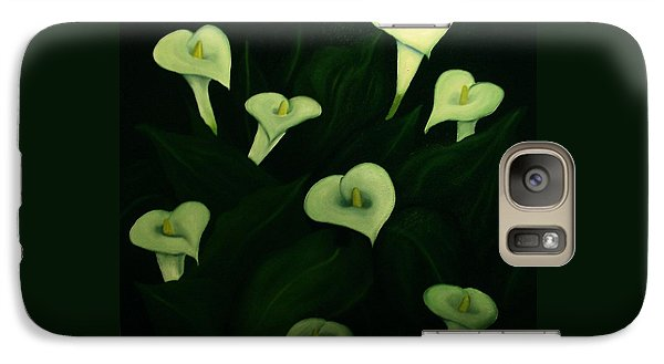 Galaxy Case featuring the painting Calla Lilies by John Stuart Webbstock