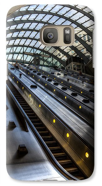 Canary Wharf Station Galaxy S7 Case by David Pyatt