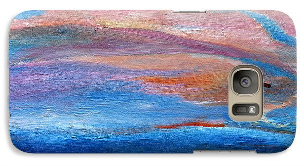 Galaxy Case featuring the painting Cape May Sunset by Vadim Levin