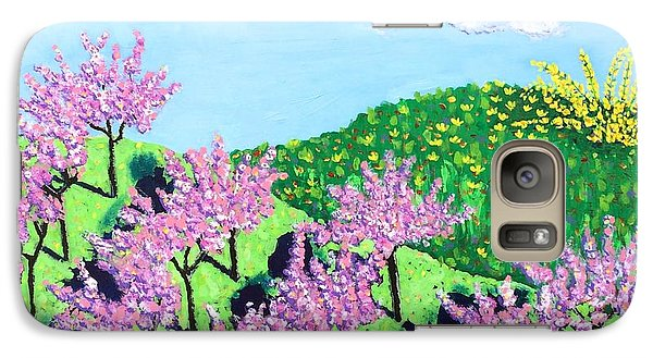 Galaxy Case featuring the painting Cherry Grove by Angela Annas