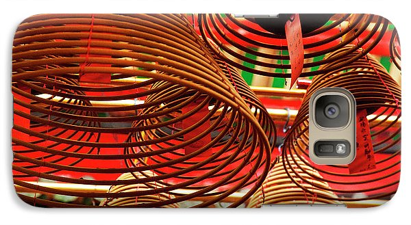 China, Hong Kong, Spiral Incense Sticks Galaxy S7 Case by Terry Eggers
