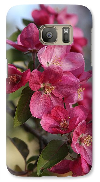 Galaxy Case featuring the photograph Crabapple Blossoms by Vadim Levin