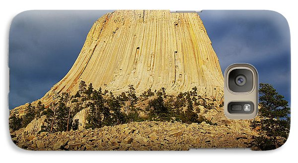 Galaxy Case featuring the photograph Devils Tower National Monument Wyoming Usa by Shawn O'Brien
