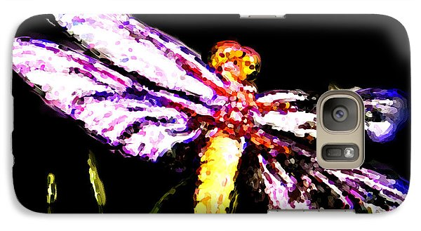 Galaxy Case featuring the painting Dragonfly by Daniel Janda