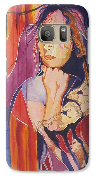 Galaxy Case featuring the painting Dreams And Nightmares by Diana Bursztein