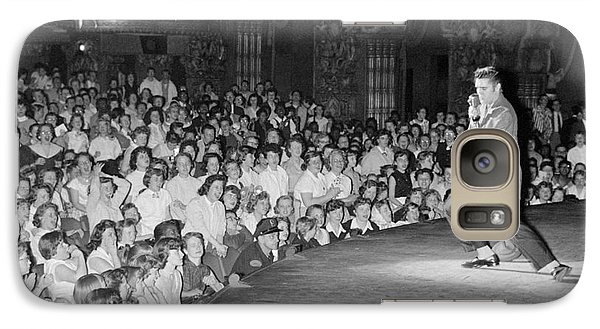 Elvis Presley In Concert At The Fox Theater Detroit 1956 Galaxy S7 Case by The Harrington Collection