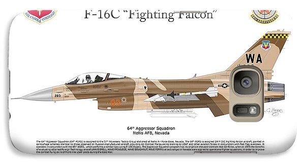 Galaxy Case featuring the digital art F-16c Fighting Falcon by Arthur Eggers