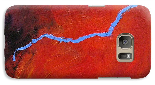 Galaxy Case featuring the painting Torso Fire And Ice by Mary Sullivan