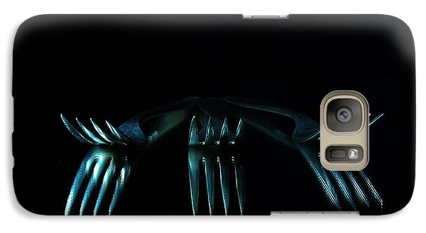 Galaxy Case featuring the photograph 3 Forks by Randi Grace Nilsberg